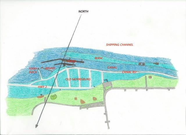 Morrisburg Waterfront Old - My Sketch with Landmarks web